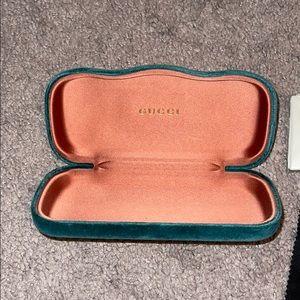 Gucci Sunglass Case - Teal Green Velvet
